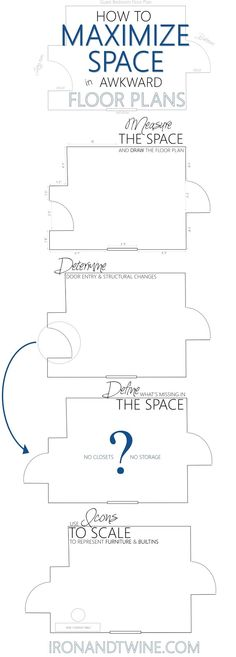 4 Easy Steps to Maximize Space when Designing a Floor Plan