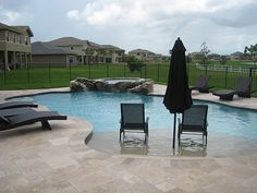 Pool design on pinterest pool cabana tropical pool and for Walk in swimming pool designs