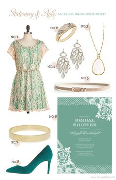 Stationery & Style: Lacey Bridal Shower Outfit