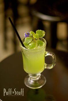 Our Signature Irish Pride | Apple Pucker Schnapps, Melon Liquor, Irish Whiskey | Puff 'n Stuff Catering | Tampa + Orlando, FL | puffnstuff.com | #irish #cocktail #green