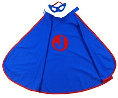 Who's ready for Halloween!?! Pure play kids Kids Personalized Super Hero Cape  and  Mask (Blue) #MadeinUSA #AmericanMade #BuyAmerican #DemandAmerican