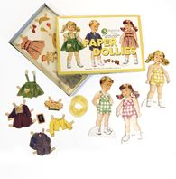 little girls, gift, vintage paper dolls, papers, vintage kids, retro party, vintage inspired, paper toys, kids toys