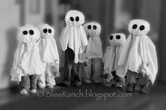Ghost Family - use your kids old clothes to your own ghostly kids!