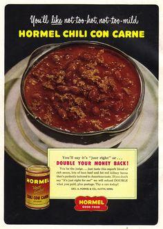 #chili #1950s #retro #food #vintage #ad