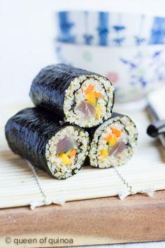 Quinoa Sushi with Tuna & Mango - great rice substitute!