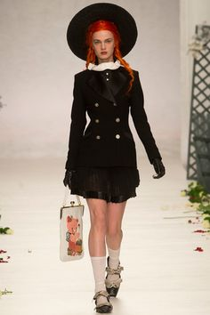 Gothic Couture: Meadham Kirchhoff Spring 2014 RTW. Via Style.com