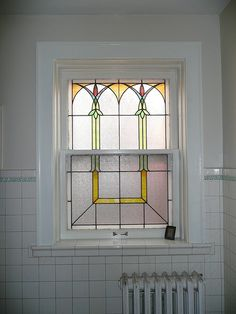 Arts and Crafts style window