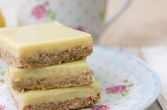 LEMON CREAM BARS ::: Gluten-Free,Low Sugar,Soy-Free,Vegan