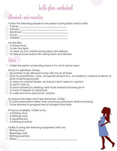 Birth Plans on Pinterest | Doula, Doula Business and Ina May Gaskin