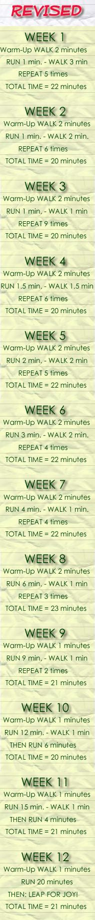 Beginner Running Training Routine - Revised - I keep telling myself to start running (of at least speed walk) but I'm a bit lazy.  OK, southern California, springtime -- I get it!