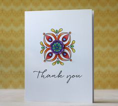 Thank You Card by Laura Bassen for Papertrey Ink (August 2014)
