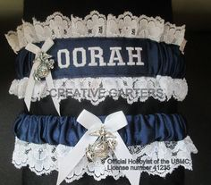 I found the perfect Marine Corps garter for my wedding! Something blue too!