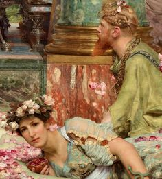 Lawrence Alma‐Tadema  Las rosas de Heliogábalo, 1888 (detalle)