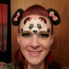 facepaint, panda face painting