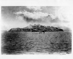 An early view of Alcatraz during the 1880s.  Photo credit: San Francisco History Center, San Francisco Public Library