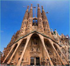 Barcelona, Spain, La Sagrada Familia.