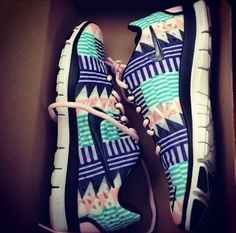aztec print nike trainers