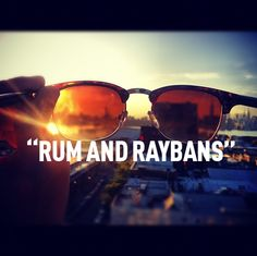 "You can't visit Puerto Rico without enjoying ""Rum & Raybans""...#summer jam!"