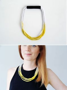 DIY an ombre rope necklace with this tutorial.