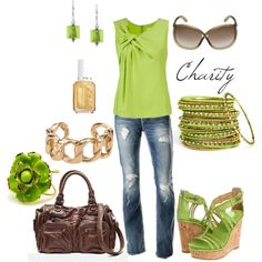dream wardrobe, green shoes, key lime, wedge shoes, color, summer outfits, jean outfits, casual outfits, shades of green