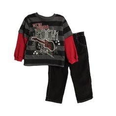 Little Rebels Kid Boys 2 Piece Striped Layered « Clothing Impulse