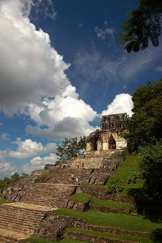 Mayan temples at Palenque, Mexico