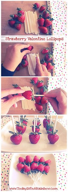 Strawberry Valentine Lollipops