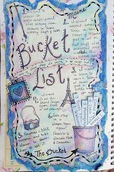 Bucket List journal. Make a vision board