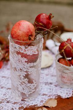 table decorations, lace, idea, inspiration, centerpiec