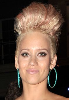 Kimberly Wyatts high sculpted hairstyle