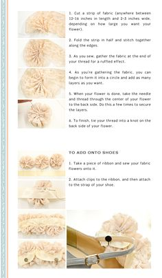 how to: Lace flowers