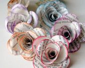 craft flowers, paper roses, crafti, diy crafts, book pages, paper flowers, craft ideas, paper crafts, old books
