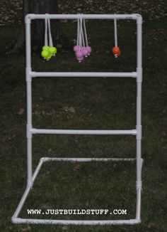 """""""Ladder Ball golf game"""" DIY instructions. Hubby has wanted to make this for a long time."""