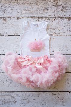Pettiskirt - Tutu - Girls FIrst birthday Outfit - Pettiskirt - Pink Skirt - Newborn Photo Prop - Baby Outfit -baby pettikskirt on Etsy, $50.00