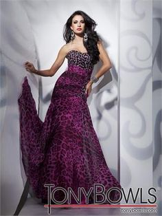 FOUND IT!  purple AND animal print and only $363 -- Paris By Tony Bowls Prom 112700