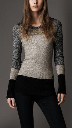 Burberry London Colour Block Sweater  Idea