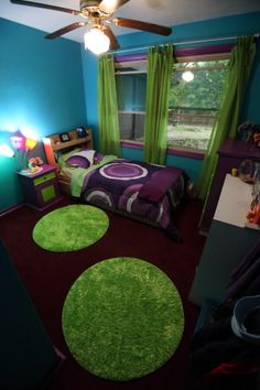 Sammy 39 s room on pinterest girls room design little girl for Blue green purple room