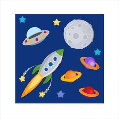 Kids Space Themed Bedroom Design-- Is this a rug?
