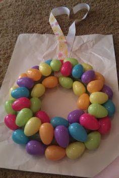 Plastic egg Easter wreath