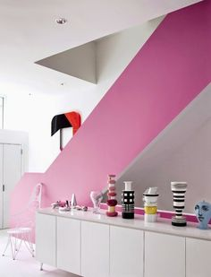Color to accentuate architecture.  Brill! \\ At home with Karim Rashid