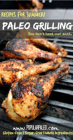 60 Paleo Grilling recipes perfect for summer on www.PopularPaleo.com! summer pork recipes, pork paleo recipes, paleo grilling recipes, paleo grill recipes, paleo summer recipes, grill paleo, crossfit recipes, 60 paleo, smoked meat recipe