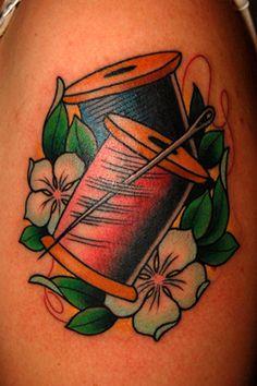 thread spools tattoo