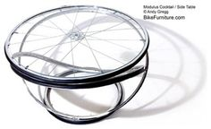 bike furnitur, coffee tables, side tables, bicycl, recycl bike