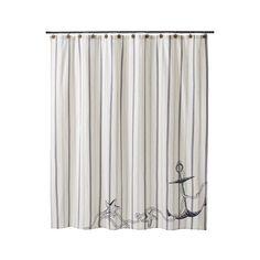 Allen Roth Curtain Rods Beach Shower Curtain
