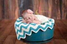 Custom Order Mini Chevron Blanket, Basket Stuffer, or Car seat Blankie $25 Newborn and Baby Photography props #Snipits #Snipitsink #DesiraeJonesPhotography