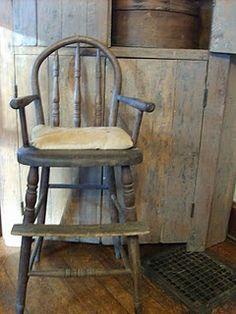 Primitive high chair~