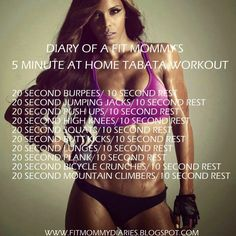Diary of aFit Mommy's 5 Minute At Home Tabata Workout
