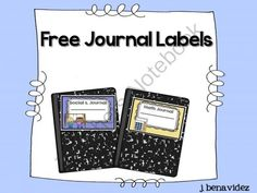 Free journal labels  from Building Bridges on TeachersNotebook.com -  (6 pages)  - Free Labels for student journals