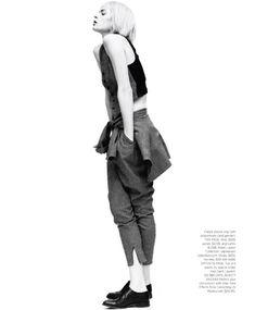 Elise Crombez Goes Garçonne for Harper's Bazaar US, Shot by Nathaniel Goldberg