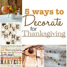 5 Ways to Decorate f